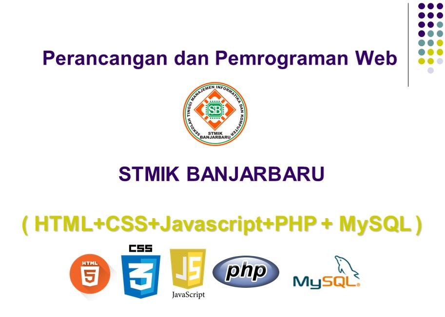 IKB-T001|Perancangan dan Pemrograman Web|Taufik Nizami, M.Kom
